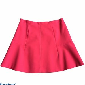 J. CREW Coral Zipped A Line Short Skirt Lined